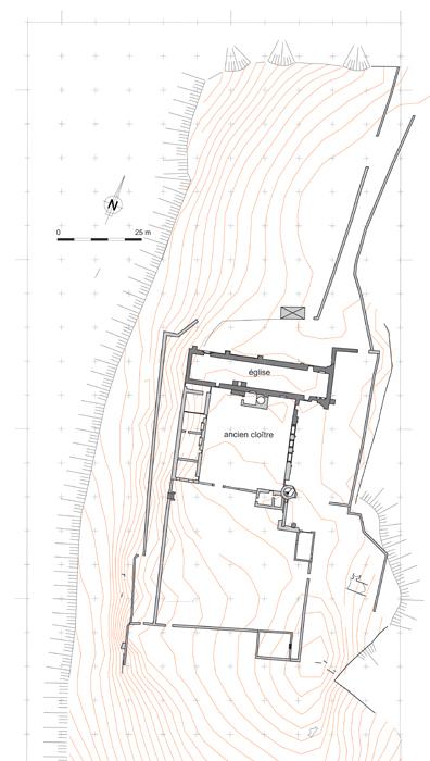 Artige (87) Plan des vestiges