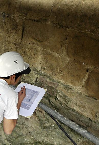 Alixan (26) - Le château (2013) Interprétation archéologique sur relevé photogrammétrique