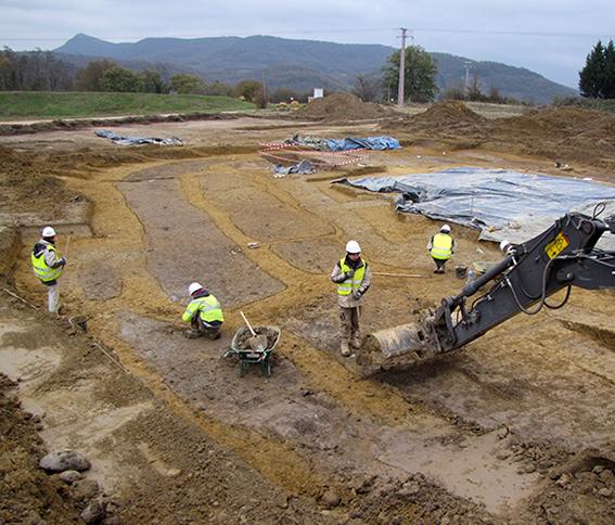 Martres-Tolosane (31) - Site de Pentens (2010)  Décapage archéologique