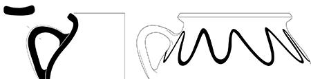 Montpellier(34) Dominium, dessin de céramique médiévale - 2008
