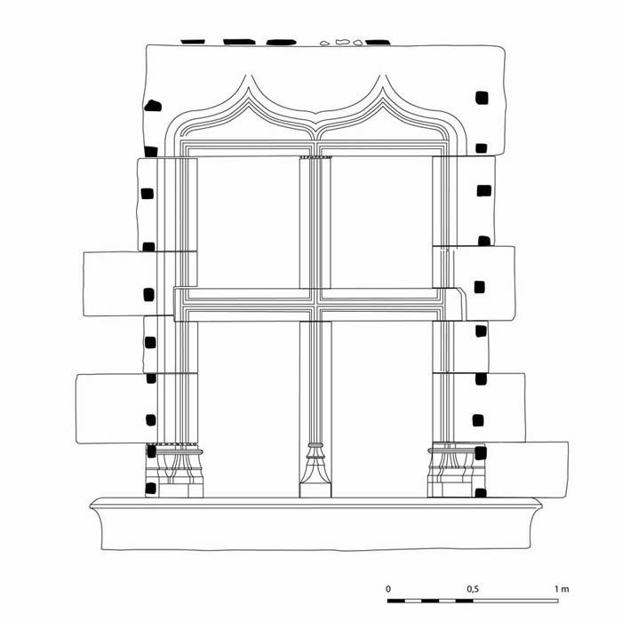 Périgueux (24) - Château-Barrière Relevé d'une croisée