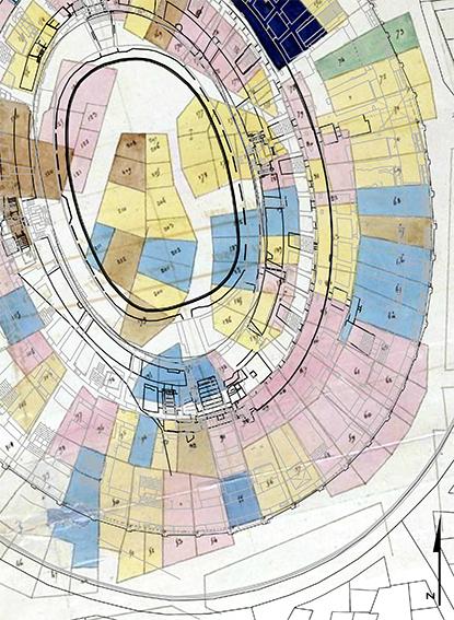 Arles (13) Superposition d'informations  documentaires concernant  l'amphithéâtre