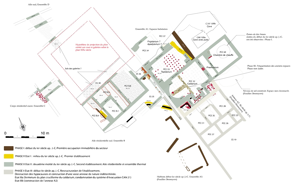 2008. Fig. 1 - Plan des vestiges 2008. Fig. 1 - Plan des vestiges