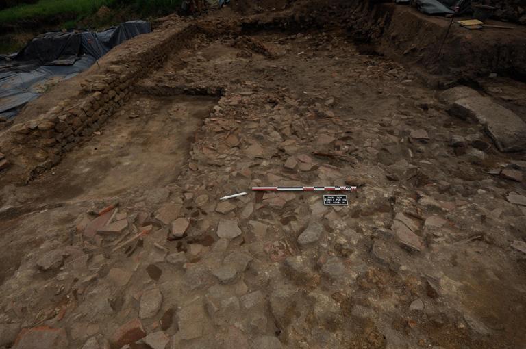 Fig. 8 – Niveau d'effondrement (US 4018) de la pièce PCE 175