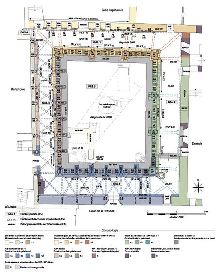 Fig. 1 - Plan récapitulatif des différentes phases de construction identifiées