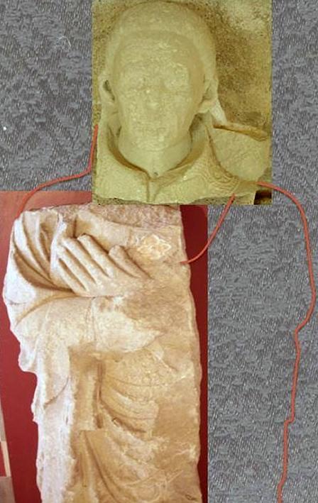 Fig. 9 - Montage photographique reconstituant le gisant de l'abbé Auger de Cogenx