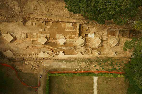 Fig. 7 - Emprise des fouilles à l'issue des terrassements mécaniques, le 26/08/2016