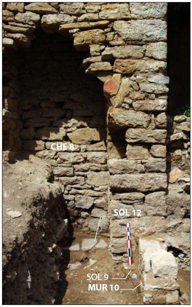Fig. 2 - Vue de la cheminée nord