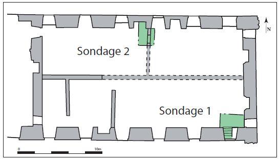 Fig. 4 - Plan de localisation des sondages