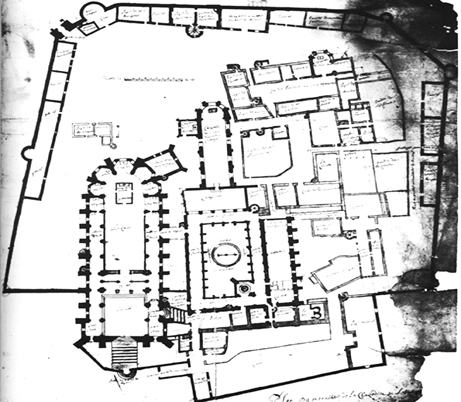 Fig. 2 - Plan « en l'estat » du monastère, 1643