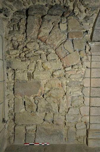 Fig. 3 - Détail de l'élévation de l'aile ouest des bâtiments monastiques