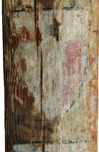 Fig. 1 – Traces de peintures représentant un blason (face D)