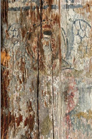 Fig. 2 - Traces de peintures représentant un archange (face D)