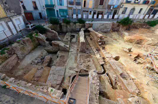 Fig. 4 - Vue d'ensemble de la partie sud du secteur 1 après le dégagement des murs antiques