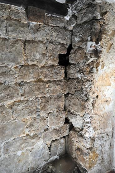 Vue de la jonction entre deux des murs étudiés