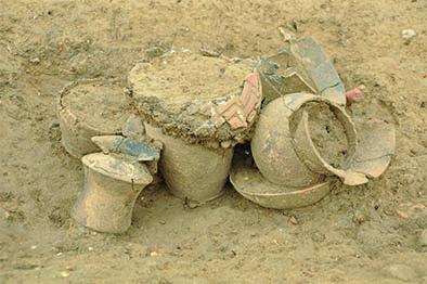 Fig. 1 - Sépulture du premier âge du Fer