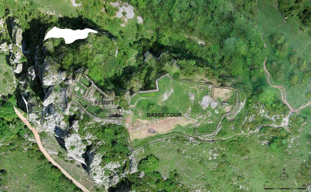 Fig. 2 - Vue aérienne du site