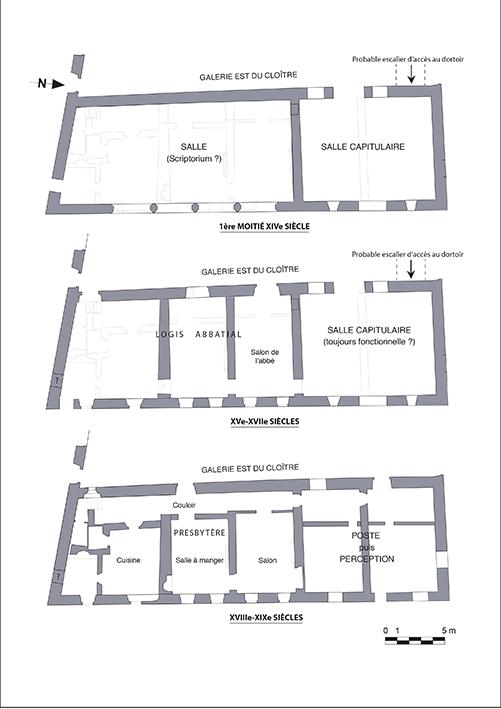 Fig. 3 - Hypothèse d'évolution du rez-de-chaussée du bâtiment oriental