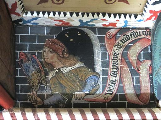 Fig. 4 - Plafond peint de la salle centrale