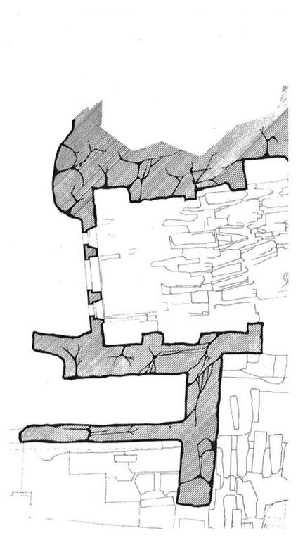 Fig. 2 – Extrait de plan de septembre 1975 (Bonnard (P.), ACMH)