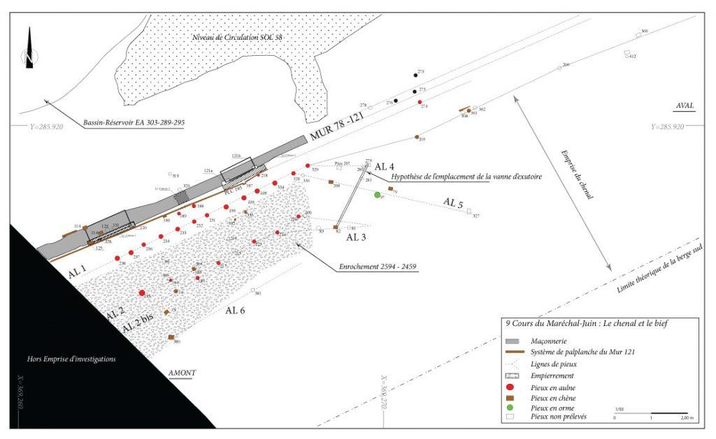 Fig. 4 - Plan des vestiges de la troisième phase (milieu du Ier siècle apr. J.-C. et la fin du IIe siècle)