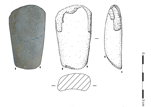 Fig. 2 - Hache polie