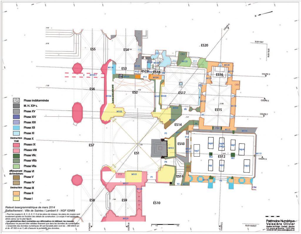Fig. 1 - Plan phasé de la cathédrale