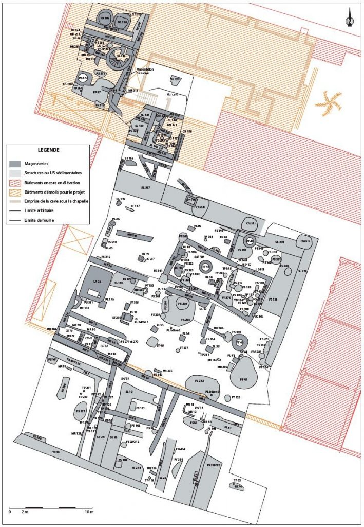 Fig. 1 - Plan de repartition des vestiges