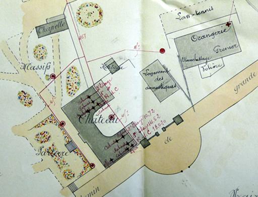 Fig. 2 - Extrait de plan illustrant le Domaine de la Verrerie en 1894