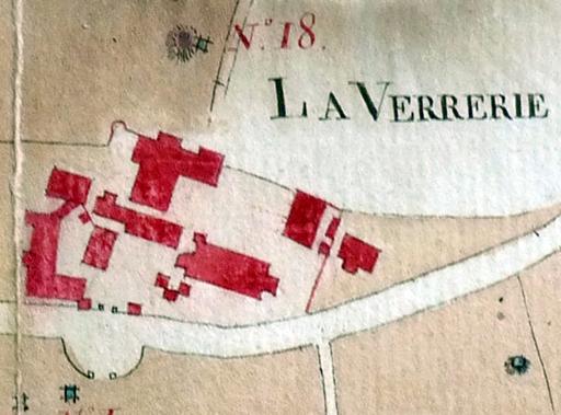 Fig. 4 - Extrait de plan illustrant le Domaine de la Verrerie vers 1799