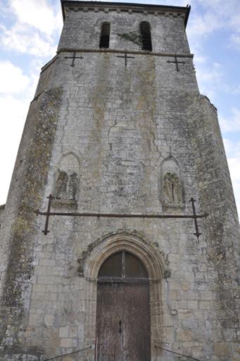 Fig. 2 - Élévation ouest du clocher de l'église