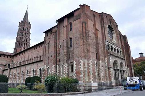 Fig. 1 - Vue générale du massif occidental de la basilique Saint-Sernin