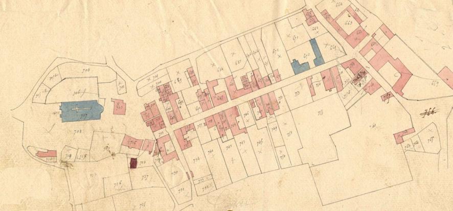 Fig. 1 - Cadastre du début du XIXe siècle
