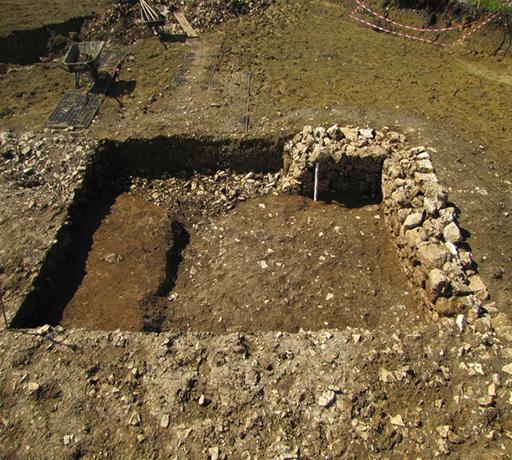 Fig. 1 - Élévation d'un des murs les mieux conservés