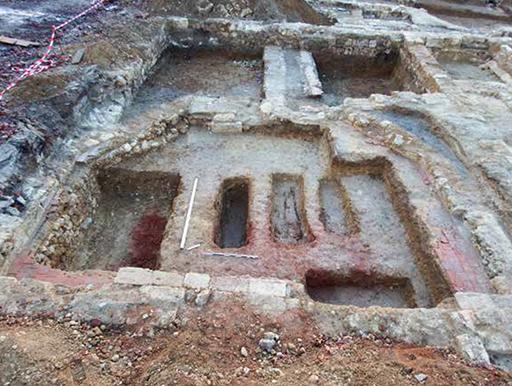 Fig. 2 - Chapelle en fin de fouille