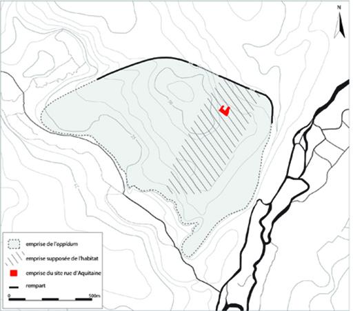 Fig. 2- Plan de l'oppidum de Pons