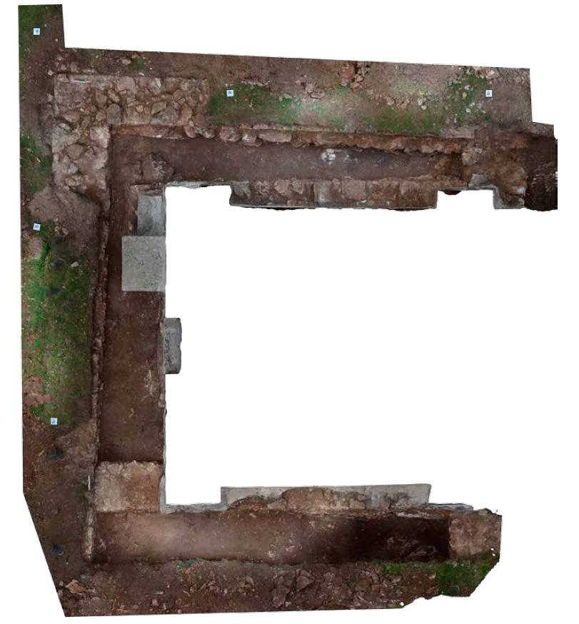 Fig. 2 - Orthophotographie du bâtiment antérieur
