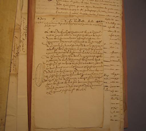 Fig. 3 - Texte de 1650 mentionnant la Fourie