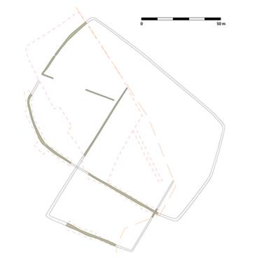 Fig. 2 - Plan général de l'enclos fossoyé