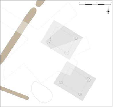 Fig. 3 - Plan restitué des bâtiments sur poteaux