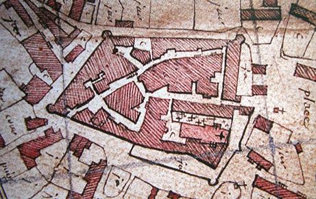 Fig. 1 - Extrait d'un plan routier de la fin du XVIIIe siècle