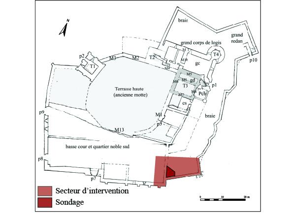 Salignac_fig.a_plan fig. 1 - Plan du château