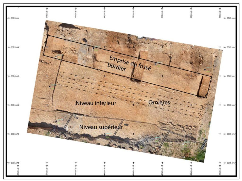 Fig. 2 - Orthophotographie de la voie