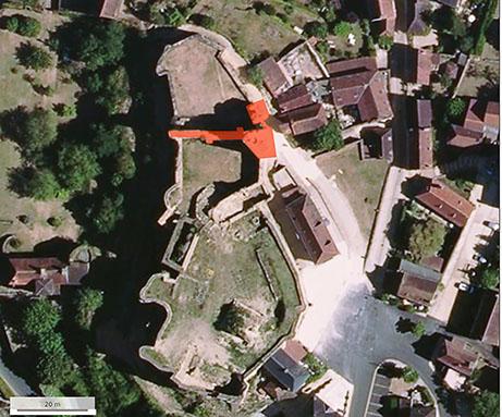 Fig. 1 - Vue aérienne du site
