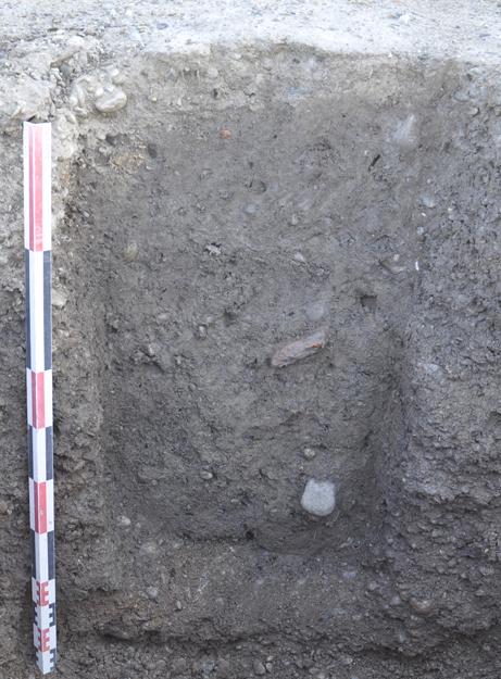 Fig. 5 - Vue d'un trou de poteau du bâtiment
